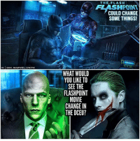 What should they change? 🤷🏽‍♂️ The only thing I really want gone is some of JaredLeto's Joker Tattoos. It would also be easier for @JaredLeto in the makeup room if he was to appear in future DCFilms instead of having to go through a whole transformation where he shaves his eyebrows and goes full method acting like he did in SuicideSquad. I also included JesseEisenberg because I know a lot of people hate his LexLuthor…personally I think his role in BatmanVSuperman was more of an origin story to his character, and he will become more like ComicAccurate Lex down the line…after his experience in ArkhamAsylum. But Comment Below which Changes to the DCEU you'd like to see happen after EzraMiller's Solo Flash Movie…' FlashPoint'. DCExtendedUniverse ( FlashPointParadox Art By : @BossLogic ) TheFlash JusticeLeague BarryAllen ⚡️: THE/FLASH  FLASHPOINT  COULD CHANGE  SOME THINGS!  IG ODC.MARVEL.UNITE  WHAT WOULD  YOU LIKE TO  SEE THE  FLASHPOINT  MOVIE  CHANGE IN  THE DCEU? What should they change? 🤷🏽‍♂️ The only thing I really want gone is some of JaredLeto's Joker Tattoos. It would also be easier for @JaredLeto in the makeup room if he was to appear in future DCFilms instead of having to go through a whole transformation where he shaves his eyebrows and goes full method acting like he did in SuicideSquad. I also included JesseEisenberg because I know a lot of people hate his LexLuthor…personally I think his role in BatmanVSuperman was more of an origin story to his character, and he will become more like ComicAccurate Lex down the line…after his experience in ArkhamAsylum. But Comment Below which Changes to the DCEU you'd like to see happen after EzraMiller's Solo Flash Movie…' FlashPoint'. DCExtendedUniverse ( FlashPointParadox Art By : @BossLogic ) TheFlash JusticeLeague BarryAllen ⚡️