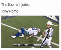 https://t.co/MBFhmdlFh9: The floor is injuries.  Tony Romo  NYG 7  Ena 12:10  1st&10 https://t.co/MBFhmdlFh9