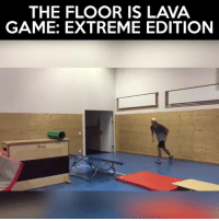 Hop to it.  Credit: Andri Ragettli: THE FLOOR IS LAVA  GAME: EXTREME EDITION Hop to it.  Credit: Andri Ragettli