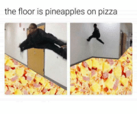 rip: the floor is pineapples on pizza rip