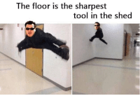 Funny, Memes, and Tool: The floor is the sharpest  tool in the shed When memes collide