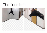 Fall, Funny, and Meme: The floor isn't He will fall into the abyss . . (Oc) . Backup: @raw.doggo Art: @overcooked.art . . meme memes comedy humour humor joke funny cringe doggo dog whyyoureadinthese