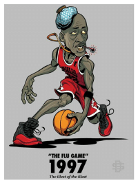 """Memes, Michael Jordan, and Pizza: """"THE FLU GAME""""  1997  The illest of the illest 21 year ago today, Michael Jordan's """"The Flu Game"""" aka """"The Hangover Game"""" aka """"The Poisoned by Pizza Game"""" https://t.co/VMo8UUrNt7 https://t.co/S4esfzgN5K"""