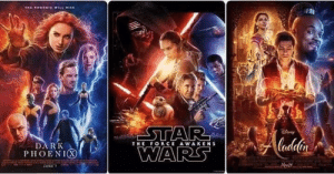 Disney, Dark, and Force: THE FORCE AWAKENS  DARK  PIIOENIⓧ Seems like Disney is using the same guy from the graphics department.