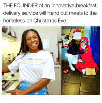 Homeless, Memes, and Breakfast: THE FOUNDER of an innovative breakfast  delivery service will hand out meals to the  homeless on Christmas Eve  WW LABODEGADELBARRIO.C