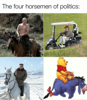 awesomesthesia:  The horsemen: The four horsemen of politics:  innia awesomesthesia:  The horsemen