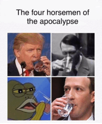"Good, Water, and Succ: The four horsemen of  the apocalypse <p>Zucc gives the water good succ via /r/MemeEconomy <a href=""https://ift.tt/2EFpyel"">https://ift.tt/2EFpyel</a></p>"