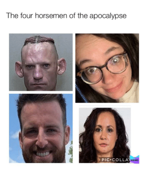 Made my own meme, what ya think?: The four horsemen of the apocalypse  PIC•COLLA MEMES Made my own meme, what ya think?