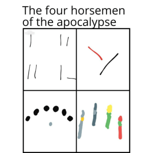 Brain, Time, and Apocalypse: The four horsemen  of the apocalypse  PS EXPRES  / Big brain time