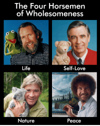 Life, Love, and Nature: The Four Horsemen  of Wholesomeness  Life  Self-Love  Nature  Peace The four horsemen of wholesomeness