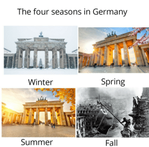 In Germany: The four seasons in Germany  123R  Winter  Spring  Summer  Fall  123R