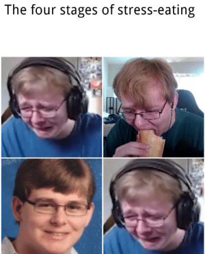 Posted while eating: The four stages of stress-eating Posted while eating