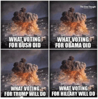 The #election is this Tuesday and both 'major' candidates are horrible. What are we going to do about it?  Wage peace, not war. Join us: (Y) Mint Press News H/T The Free Thought Project: The Free Thought  WHAT VOTING  WHAT VOTING  FOR BUSHDID  FOR OBAMA DID  WHATVOTINGERai  WHAT VOTING  FORTRUMP WILL DO FOR HILLARY WILLDO The #election is this Tuesday and both 'major' candidates are horrible. What are we going to do about it?  Wage peace, not war. Join us: (Y) Mint Press News H/T The Free Thought Project