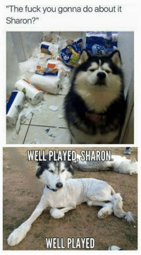 "well played: ""The fuck you gonna do about it  Sharon?  WELL PLAYED SHARON  WELL PLAYED"