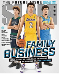 If you look closely, you can see LaVar's reflection in all of their eyes, LMAO. (@slamonline) HOOPSNATION: THE FUTURE 18S BDES FROHRE HERE  WHERE THE GAME  GOES FROM HERE  2  AKERS  」L  케「  GOLDEN  STATE  WARRIORS  FRANK  NTILIKINA  LAURI  MARKKANEN  DENNIS SMITH JR  MOSES BROWN  ALDING  PHILADELPHIA  76ERS  BUSINESS  LONZO, LIANGELO&LAMELO BALL ARE PLAYING  BY THEIR OUN RULES BY LAVAR BALL If you look closely, you can see LaVar's reflection in all of their eyes, LMAO. (@slamonline) HOOPSNATION