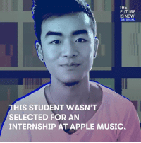 """Jason Yuan got rejected from his dream internship at Apple Music, but instead of staying salty about it, he redesigned the app — and it looks even better than before. """"If there isn't an opportunity, go ahead and make it an opportunity."""": THE  FUTURE  IS NOW  ORIGINAL  THIS STUDENT WASN'T  SELECTED FOR AN  INTERNSHIP AT APPLE MUSIC, Jason Yuan got rejected from his dream internship at Apple Music, but instead of staying salty about it, he redesigned the app — and it looks even better than before. """"If there isn't an opportunity, go ahead and make it an opportunity."""""""