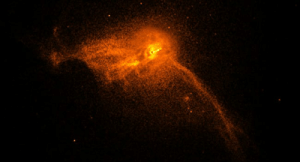 Memes, Black, and Earth: The galaxy where the black hole image was captured in its entirety.  M87 is an elliptical galaxy in the Virgo galaxy cluster, about 60 million light years away from Earth.  The  Core of M87: Chandra Captures X-rays in Coordination with EHTScientists have used NASA's Chandra X-ray Observatory to obtain data of Messier 87 during the April 2017 observations by the Event Horizon Telescope.