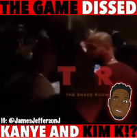 Kanye, Memes, and The Game: THE GAME  DISSED  IG: @JamesJeffersonJ  KANYE AND KIM K!? Did TheGame go too far with KanyeWest and KimKardashian ...🐸☕️