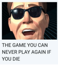 The Game: THE GAME YOU CAN  NEVER PLAY AGAIN IF  YOU DIE