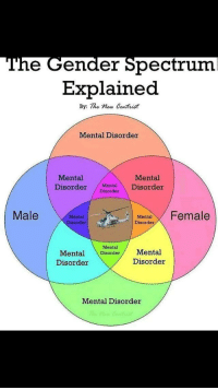 "<p>This is fake via /r/dank_meme <a href=""http://ift.tt/2zDEDe7"">http://ift.tt/2zDEDe7</a></p>: The Gender Spectrum  Explained  By: The now een tvist  Mental Disorder  Mental  Mental  Disorder MntalDisorder  Male  Mental 