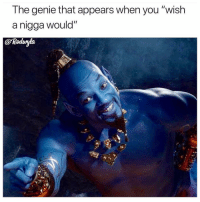 "Aladdin, Funny, and Hell: The genie that appears when you ""wish  a nigga would""  @Rodvyla  90 Oh hell naw aladdin 😂😂😂 genie 🧞‍♂️"