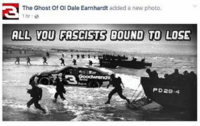 ghosting: The Ghost Of OI Dale Earnhardt added a new photo.  ALL YOU FASCISTS  BOUND TO LOSE  PD29-4