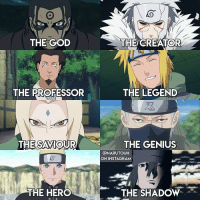 "God, Instagram, and Love: THE GOD  THE CREATOR  THE PROFESSOR  THE LEGEND  THE SAVIOUR  THE GENIUS  @NARUTOUH  ON INSTAGRAM  THE HERO  THE SHADOW Q: favorite Hokage? posting this edit whose idea everyone already used but it's just so good so I'll hop on that train 😌 i added sasuke as ""the shadow"" though since naruto refers to him as the shadow hokage. also thank u guys so much for 22.5k & over 11k likes on my recent??? i had no idea it would be that popular. thanks 💗 i love jimin { idea creds to original owner }"