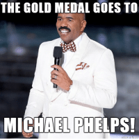 If Steve Harvey was at the Olympics: THE GOLD MEDAL GOES TO  MICHAEL PHELPS! If Steve Harvey was at the Olympics