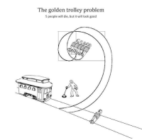 What do you want out of life? Do you seek the good? Or do you seek beauty?: The golden trolley problem  5 people will die, but it will look good What do you want out of life? Do you seek the good? Or do you seek beauty?