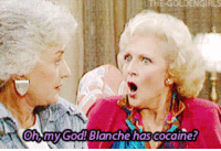 golden girls: THE-GOLDENGIRLS  hymy God! Blanche has cocaine