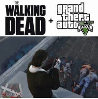 Memes, The Walking Dead, and Walking Dead: THE  gRand  WALKING When The Walking Dead meets Grand Theft Auto V 💀
