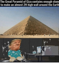 Some More, Earth, and Image: The Great Pyramid of Giza contains enough stone  to make an almost 2ft high wall around the Earth this is a very upsetting image to many ppl :((( check out Utterblax if you want to be upset some more xx
