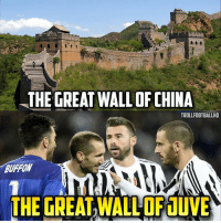 That Juventus defence 😱🔥: THE GREAT WALLOF CHINA  TROLLFOOTBALLHO  BURROW  THE GREATWALLOFdUVE That Juventus defence 😱🔥