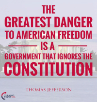 Memes, Thomas Jefferson, and American: THE  GREATEST DANGER  TO AMERICAN FREEDOM  ISA  GOVERNMENT THATIGNORES THE  CONSTITUTION  THOMAS JEFFERSON  TURNING  POINT USA. TRUTH! #BigGovSucks