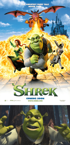 """danlsnotonfire:  pizzaback:  wannabeanimator:  DreamWorks' Shrek was first released on May 18th, 2001.The song """"All Star"""" by Smash Mouth, heard in the opening credits, was only placed in the film for test audiences until a new song could be found. But test audiences loved it, and the producers kept it in. When the producers decided to keep """"All Star"""" they decided to let the band sing the last song in the movie, """"I'm a Believer."""" (x)  Happy birthday you big stupid ugly ogre  THE SONG WAS AN ACCIDENT ARE U FUCKING KIDDING ME: THE GREATEST FAIRY TALE  NEVER TOLD  HReK  COMING SOON  www.SHREK.COMM  ted  DREAMWORKS danlsnotonfire:  pizzaback:  wannabeanimator:  DreamWorks' Shrek was first released on May 18th, 2001.The song """"All Star"""" by Smash Mouth, heard in the opening credits, was only placed in the film for test audiences until a new song could be found. But test audiences loved it, and the producers kept it in. When the producers decided to keep """"All Star"""" they decided to let the band sing the last song in the movie, """"I'm a Believer."""" (x)  Happy birthday you big stupid ugly ogre  THE SONG WAS AN ACCIDENT ARE U FUCKING KIDDING ME"""