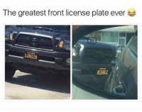 Meme, Memes, and Awesome: The greatest front license plate ever  3J0H22A  3J0HZZA  ASSHOL I wish this was my license plate 😂 @stuffthatlookslikestuff is an awesome meme page. Follow @stuffthatlookslikestuff 👈