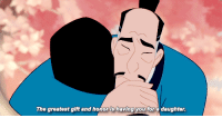 Disney, Jackie Chan, and Mulan: The greatest gift and honor is having you for a daughter. <p>And I'm cautiously optimistic but fearful they're going to fuck up the live-action version. </p><p>Listen to me Disney: CAST JACKIE CHAN AS MULAN'S FATHER. Only he can save you now. He's the right age, he's the right race, he's marketable in the states, there's absolutely no reason not to make this happen</p>
