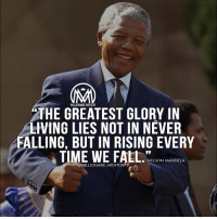 Fail, Fall, and How High: THE GREATEST GLORY IN  LIVING LIES NOT IN NEVER  ALLING, BUT IN RISING EVERY  TIME WE FAL.S  -NELSON MANDELA  @MILLIONARE MENTOR The fact that you have failed is proof that you are not finished. Failures and mistakes can be a bridge, not a barricade to success. It is not how far you fall but how high you bounce that makes all the difference. No one has ever achieved genuine success who did not, at one time or another, teeter on the edge of disaster. Success consists of getting up just one time more than you fall down. The only way to make a come back is to go on, and 90 percent of success is built on former failure. The reason most people do not go far in life is they procrastinate procrastination is the grave in which opportunity is buried. Do not sit back and take what comes, go after what you want. The door of opportunity will not open unless you F*CKING push!🔥 - success fail motivation millionairementor