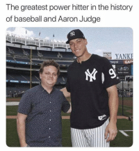 You're Killin' Me Smalls #Memes #meme https://t.co/qi6kKjiGYD: The greatest power hitter in the history  of baseball and Aaron Judge  YANKE  oepsi GAT You're Killin' Me Smalls #Memes #meme https://t.co/qi6kKjiGYD