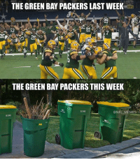 Anyone else enjoying this as much as me?: THE GREEN BAY PACKERS LASTWEEK  0X  NFL  29  THE GREEN BAYPACKERS THIS WEEK  @NFL MEMES Anyone else enjoying this as much as me?