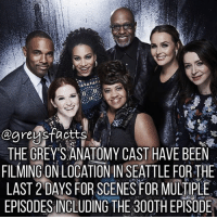 Take a look at our story! 💃🏻🍷 + Fact: The grey's anatomy cast have been filming on location in Seattle for the last 2 days for scenes for multiple episodes including the 300th episode! 💃🏻🍷+ - greysanatomy greys greysfacts greysabc season14: THE GREYS ANATOMY CAST HAVE BEEN  FILMING ON LOCATION IN SEATTLE FOR THE  LAST 2 DAYS FOR SCENES FOR MULTIPLE  EPISODESINCLUDING THE 300TH EPSODE Take a look at our story! 💃🏻🍷 + Fact: The grey's anatomy cast have been filming on location in Seattle for the last 2 days for scenes for multiple episodes including the 300th episode! 💃🏻🍷+ - greysanatomy greys greysfacts greysabc season14