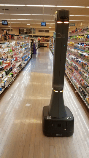 The grocery robot pleaded for 15 minutes for cleanup in Aisle 16 for a square of tissue. No one came.: The grocery robot pleaded for 15 minutes for cleanup in Aisle 16 for a square of tissue. No one came.