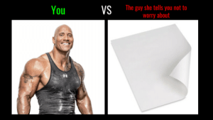 Dwayne Johnson doesn't stand a chance by tristan10000 FOLLOW 4 MORE MEMES.: The guy she tells you not to  worry about  You  VS Dwayne Johnson doesn't stand a chance by tristan10000 FOLLOW 4 MORE MEMES.