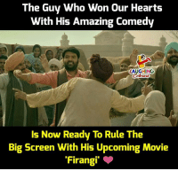 Hearts, Movie, and Amazing: The Guy Who Won Our Hearts  With His Amazing Comedy  LAUGHING  Colowrs  Is Now Ready To Rule The  Big Screen With His Upcoming Movie  Firangi. Firangi takes it to next level #Firangi