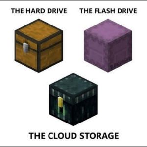 (Pewdiepie voice) Thats how storage works!: THE HARD DRIVE  THE FLASH DRIVE  Babbleban  THE CLOUD STORAGE (Pewdiepie voice) Thats how storage works!
