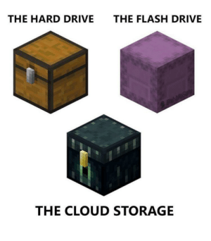 Minecraft predicted the hard drive 😱😱😱: THE HARD DRIVE  THE FLASH DRIVE  ElabbleBam  THE CLOUD STORAGE Minecraft predicted the hard drive 😱😱😱