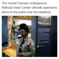 """Harriet Tubman: The Harriet Tubman Underground  Railroad Visitor Center"""" officially opened its  doors to the public over the weekend  Living, working, and praying together free and  enslaved blacks built close-knit communities  on the Eastern Shore. Tubman relied on these  caring relationships to hold onto humanity  in the face of slavery.  Here, free blacks lived side by side with enslaved  people. They shared news, skills, and created family  bonds, Free black maritime workers called Black Jacks,  provided information and a network of communication,  It was illegal to teach enslaved people to read and write.  Formal education for free blacks was restricted.  But freeman and neighbor Jacob Jackson was literate,  enabling him to pass along messages between Tubman  and others.  Yetall blacks suffered at the hands of whites who were  protected by social convention and slaveholders who  physically abused or killed their enslavedpeople were  rarely punished.  Explore this storyanthebyway  af Madison and Church"""