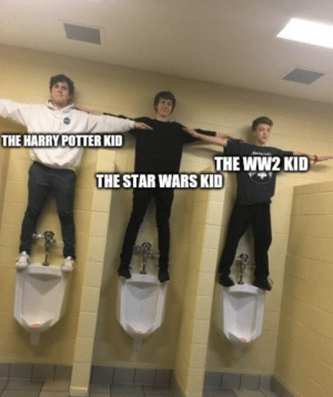 Harry Potter, Star Wars, and Star: THE HARRY POTTER KID  THE WW2 KID  THE STAR WARS KID the 3 most powerful beings