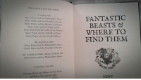 """<p><a href=""""http://daily-harrypotter-world.tumblr.com/post/152804356274/i-started-reading-fantastic-beasts-from-the"""" class=""""tumblr_blog"""">daily-harrypotter-world</a>:</p>  <blockquote><p>I started reading Fantastic Beasts (from the Hogwarts Library books)…</p></blockquote>: THE HARRY POTTER SERIES  In reading order:  Harry Potter and the Philosopher's Stone  Harry Potter and the Chamber of Secrets  Harry Potter and the Prisoner of Azkaban  Harry Potter and the Goblet of Fire  Harry Potter and the Order of the Phoenix  Harry Potter and the Half-Blood Prince  Harry Potter and the Deathly Hallows  FANTASTIC  BEASTS  WHERE TO  FIND THEM  Also available in Latin:  Harry Potter and the Philosopher's Stone  Harry Potter and the Chamber of Secrets  Also available in Welsh, Ancient Greek and Irish:  Harry Potter and the Philosopher's Stone  COMPANION VOLUMES  Fantastic Beasts and Where to Find Them  Quidditch Through the Ages  NEWT  c Coutic Relief) <p><a href=""""http://daily-harrypotter-world.tumblr.com/post/152804356274/i-started-reading-fantastic-beasts-from-the"""" class=""""tumblr_blog"""">daily-harrypotter-world</a>:</p>  <blockquote><p>I started reading Fantastic Beasts (from the Hogwarts Library books)…</p></blockquote>"""