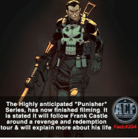 """Hype, Life, and Memes: The Highly anticipated """"Punisher""""  Series, has now finished filming.  is stated it will follow Frank Castle  WSNICOMIOF  around a revenge and redemption  tour & will explain more about his life  Fact 354 - Hype is maximum for this thing. • • -QOTD?!: What do you most want from this series?!"""